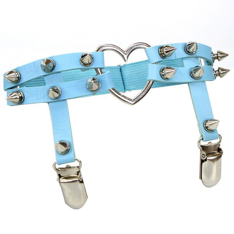 Bestkawaii-Studded-Heart-Leg-Garter