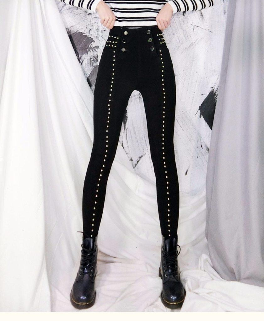 Bestkawaii-Studded-High-Waist-Skinny-Pants
