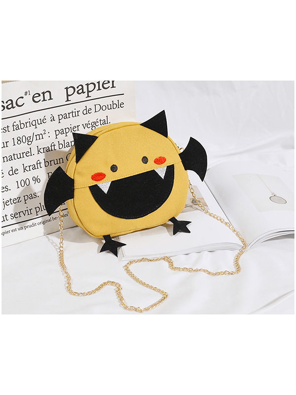 Cute Little Devil Canvas Crossbody Bag