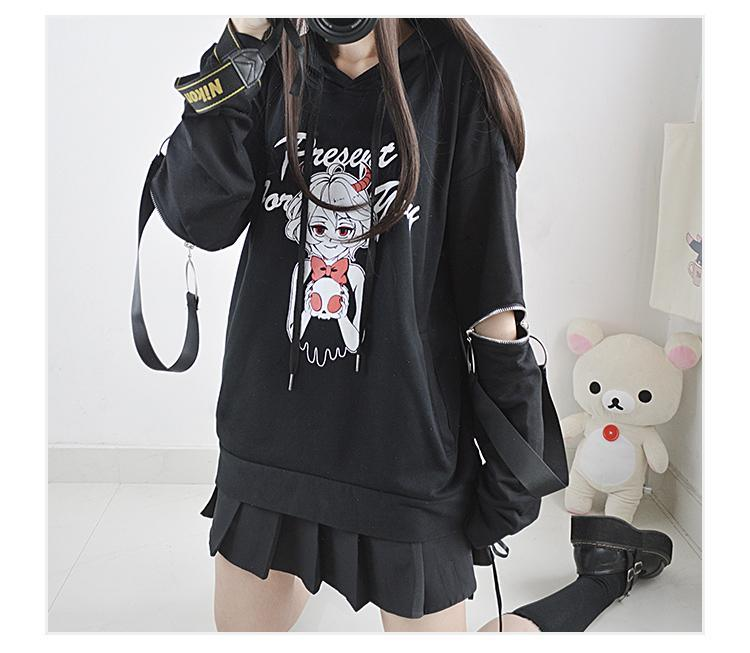 Cute Little Devil Zip Hoodie