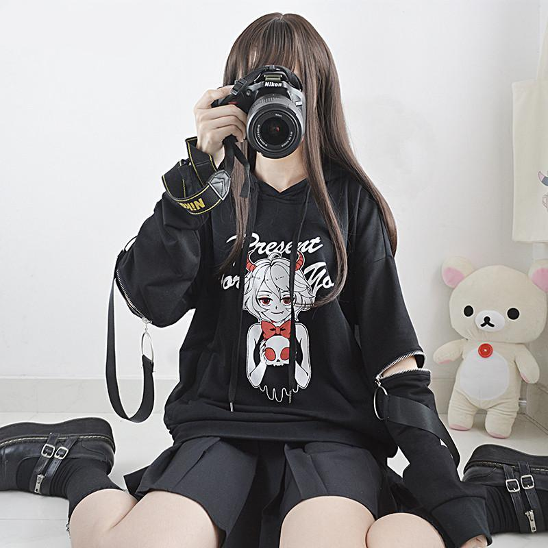 Best Kawaii - Cute Little Devil Zip Hoodie