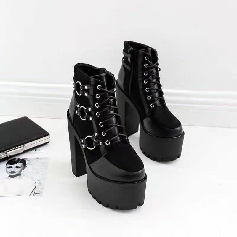 Gothic Platform Ring Boots