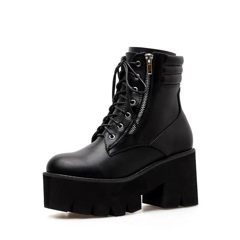 Lace Up Chunky Platform Shoes