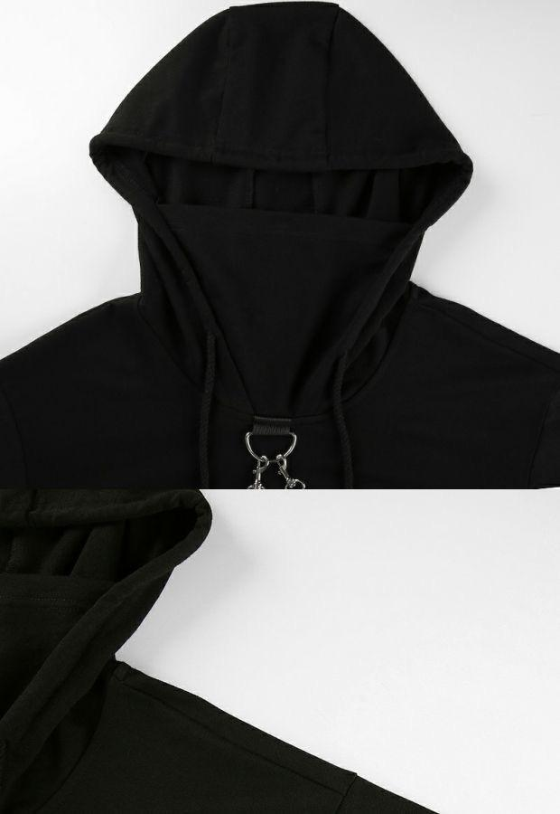 Punk Suspender Cropped Hoodies