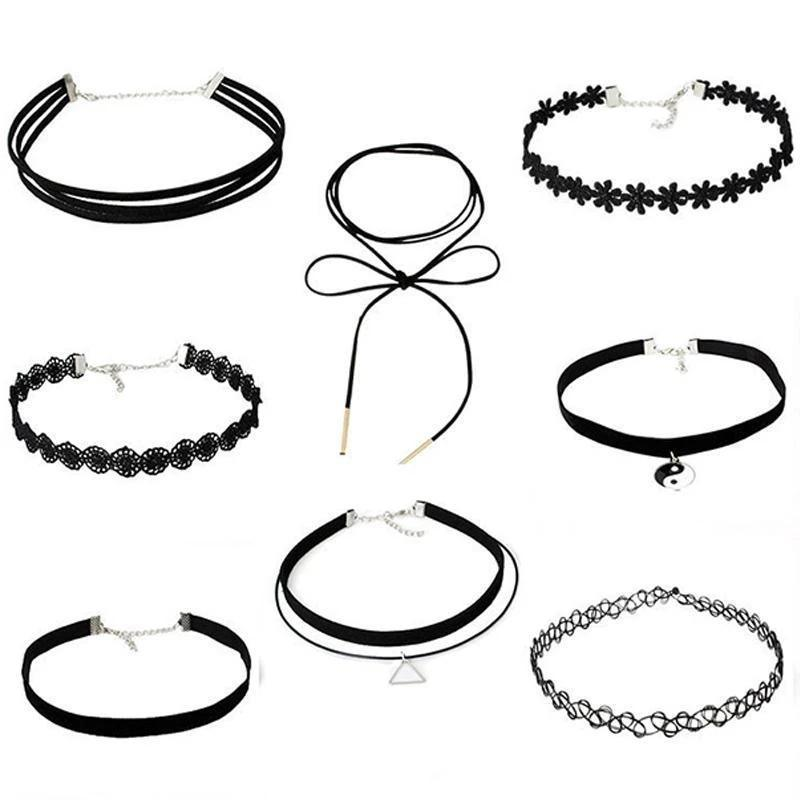 Best Kawaii - Simple Black Choker Set