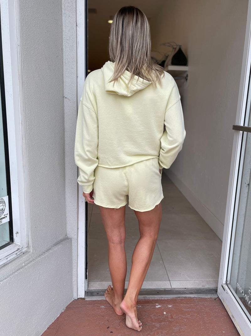 Marina Washed Short in Key Lime