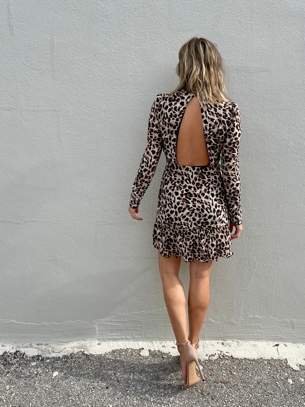 Emerson Pleated Leopard Dress