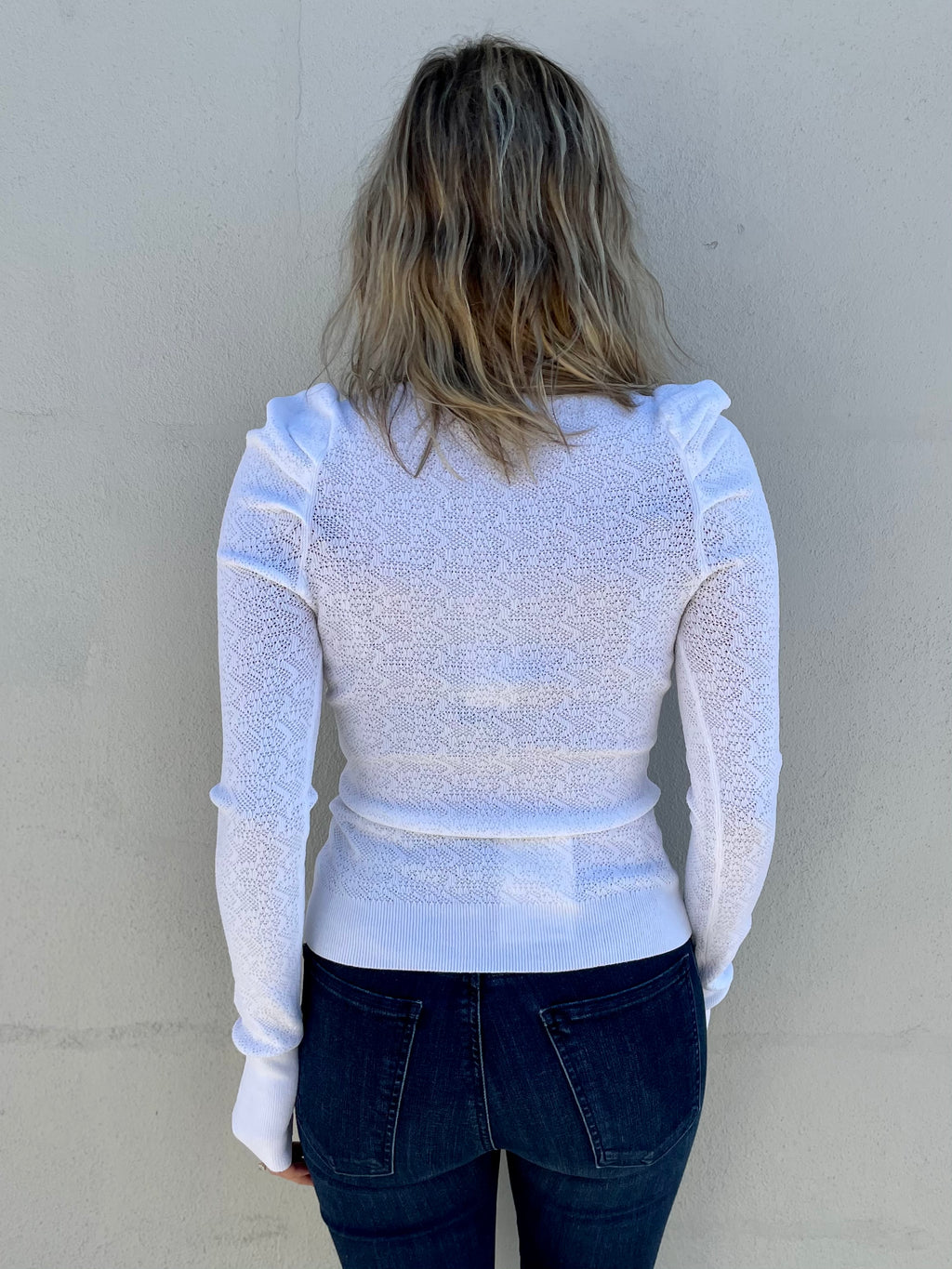Pointelle Puff Sleeve Top