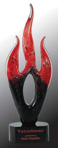 Art Glass Flame - AwardsPlusGI