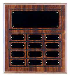 Cherry Woodgrain Laminate Perpetual Plaque - AwardsPlusGI