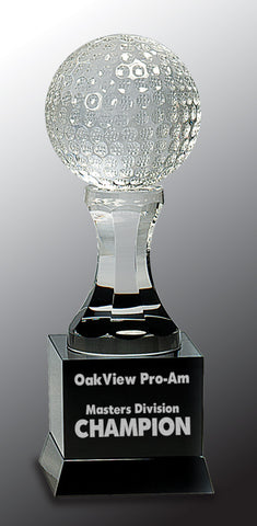 Crystal Golf Trophy - AwardsPlusGI