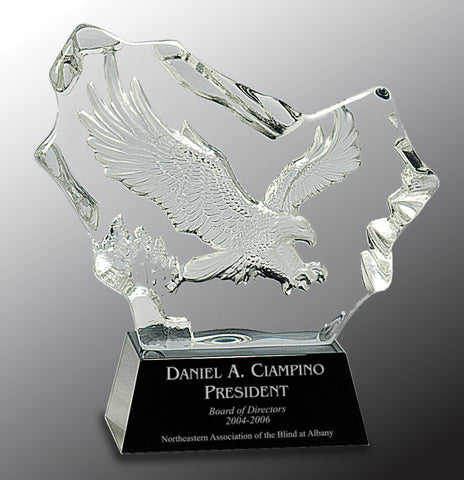 Crystal Carved Eagle - AwardsPlusGI
