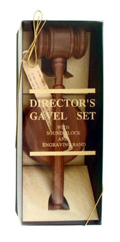 Gavel Gift Set - Walnut - AwardsPlusGI