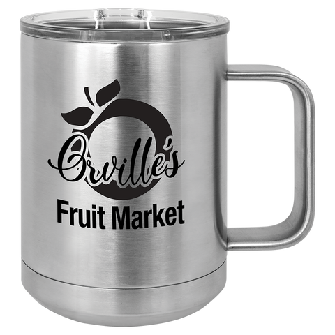 15 oz. Stainless Steel Coffee Mug - AwardsPlusGI
