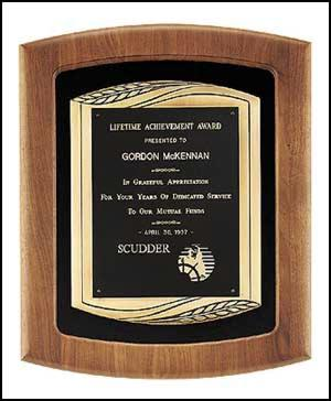 Walnut Framed Premium Plaque - AwardsPlusGI