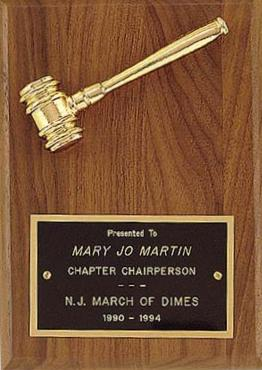 Mini Gavel Plaque - AwardsPlusGI