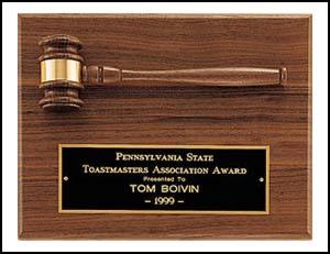 Gavel Plaque - AwardsPlusGI