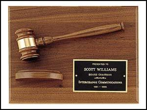 Gavel & Block Plaque - AwardsPlusGI