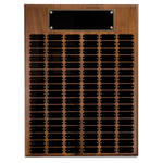 Solid Walnut Standard Perpetual Plaque - AwardsPlusGI