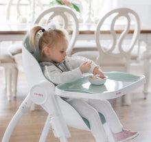 Load image into Gallery viewer, Baby using Oribel Cocoon High Chair Pistachio Macaron