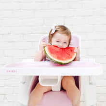 Load image into Gallery viewer, Baby using Oribel Cocoon High Chair Rose Meringue