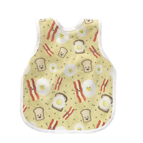 BapronBaby Bacon and Eggs Bapron Bib-Apron Front View