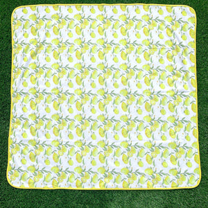 BapronBaby Fresh Squeeze Lemon Splash Mat in Use