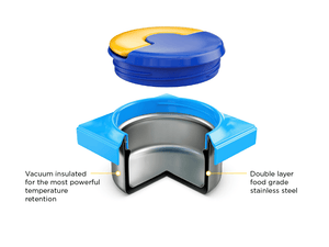 Omielife Omiebox Blue Sky Container Lid and Securing Insert