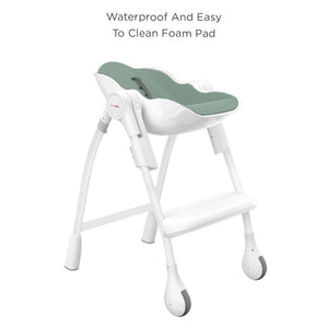 Oribel Cocoon High Chair Pistachio Macaron Waterproof and Easy to Clean Foam Pad
