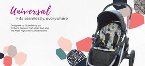 Oribel Cocoon High Chair Seat Liner Universal Fits Seamlessly, Everywhere