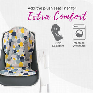 Oribel Cocoon High Chair with Seat Liner for Extra Comfort