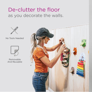 Oribel VertiPlay Busy Woodpecker Knocker De-Clutter The Floor as You Decorate the Walls