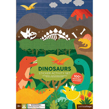 Load image into Gallery viewer, Petit Collage Dinosaurs Sticker Activity Set