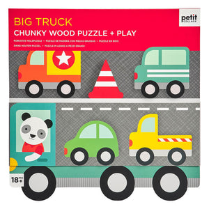 Petit Collage Chunky Wood Puzzle + play - Big Truck