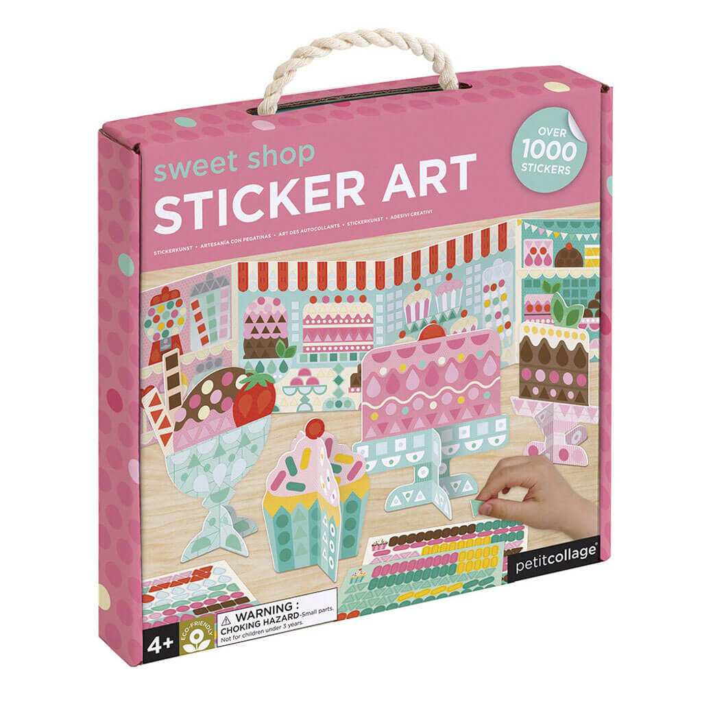 Petit Collage Sticker Mosaic Set Sweet Shop