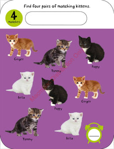 Priddy Books Early Learning Fun Match It! - Kittens