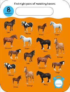Priddy Books Early Learning Fun Match It! - Horses
