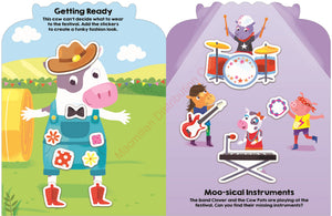 Priddy Books Sticker Friends Farm - Getting Ready and Moo-sical Instruments