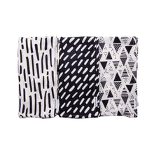 Load image into Gallery viewer, Tiny Twinkle Swaddle Blanket Black & White