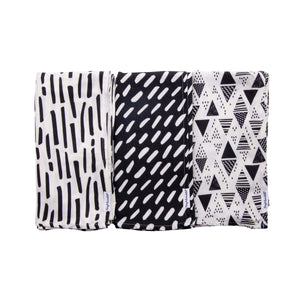 Tiny Twinkle Swaddle Blanket Black & White
