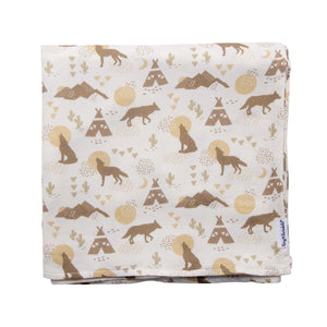 Tiny Twinkle Swaddle Blanket Coyote
