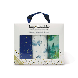 Tiny Twinkle Swaddle Blanket Forest