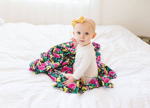 Tiny Twinkle Swaddle Blanket Painted Peony