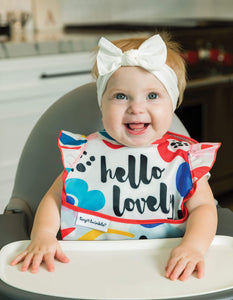 Tiny Twinkle Mess-proof Easy Bib Hello Lovely