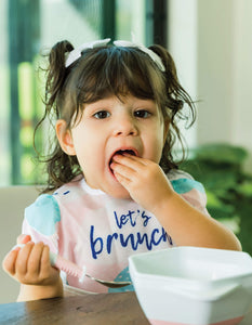 Tiny Twinkle Mess-proof Easy Bib Let's Brunch