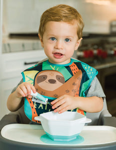 Tiny Twinkle Mess-proof Easy Bib Eat Sleep Repeat