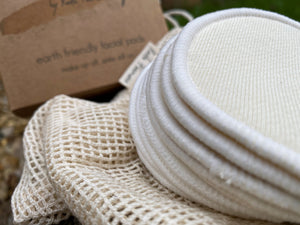 Bamboo & Hemp Reusable 'Cotton' Facial Pads - 10 Pack