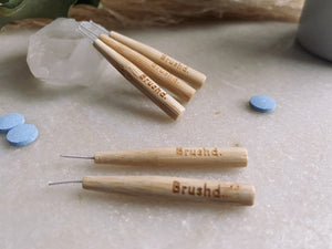 Brush'd - Bamboo Interdental Brushes - 0.6mm, 0.8mm, 1.0mm