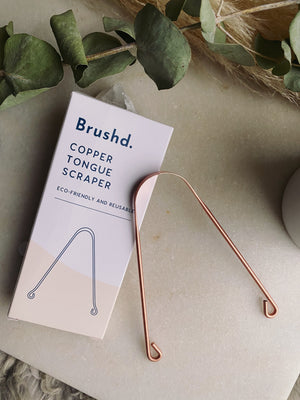 Brush'd - Copper Tongue Scraper