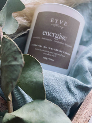 EYVE Wellbeing - Energise Essential Oil Wellbeing Candle